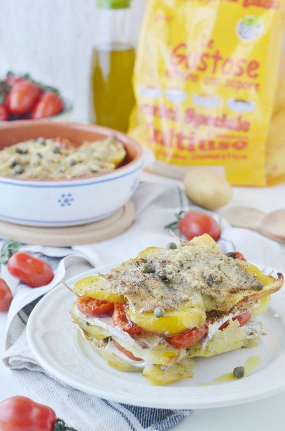 Tortino di alici e patate alla mediterranea