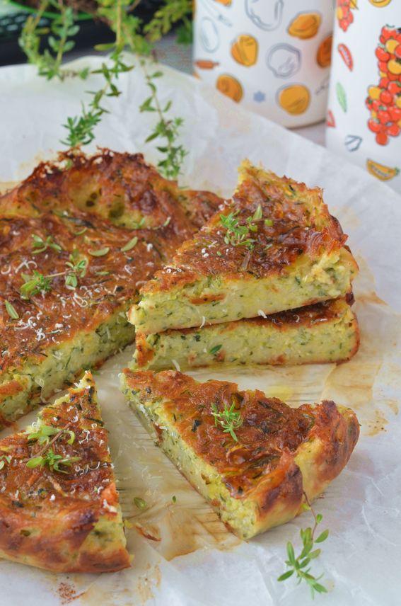 Torta salata sofficissima con zucchine e formaggio morbido