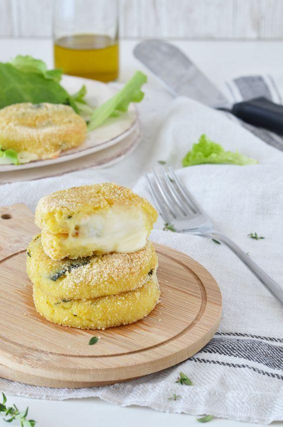 Crocchette di patate e zucchine con cuore di sottiletta filante